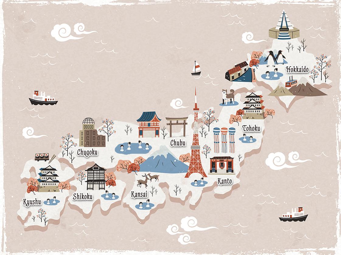Onsen Map